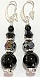 Designer Earrings - Black Queen