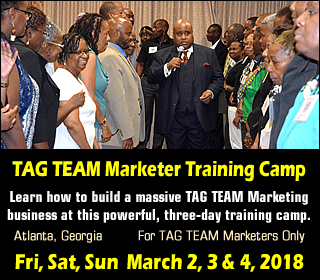 TAG TEAM Marketer Training Camp 2018
