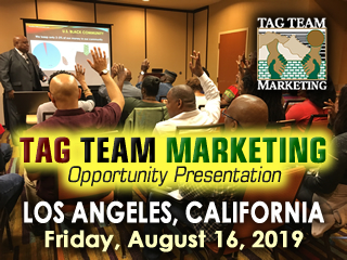 TAG TEAM Marketing  Opportunity Presentation