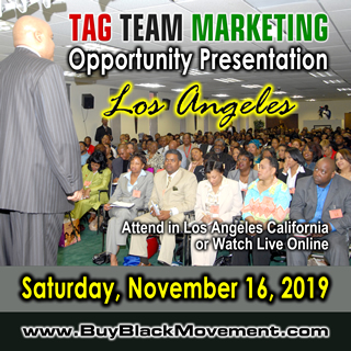 TAG TEAM Marketing Opportunity Presentation - Los Angeles, California