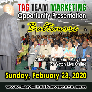 TAG TEAM Marketing Opportunity Presentation - Baltimore, Maryland
