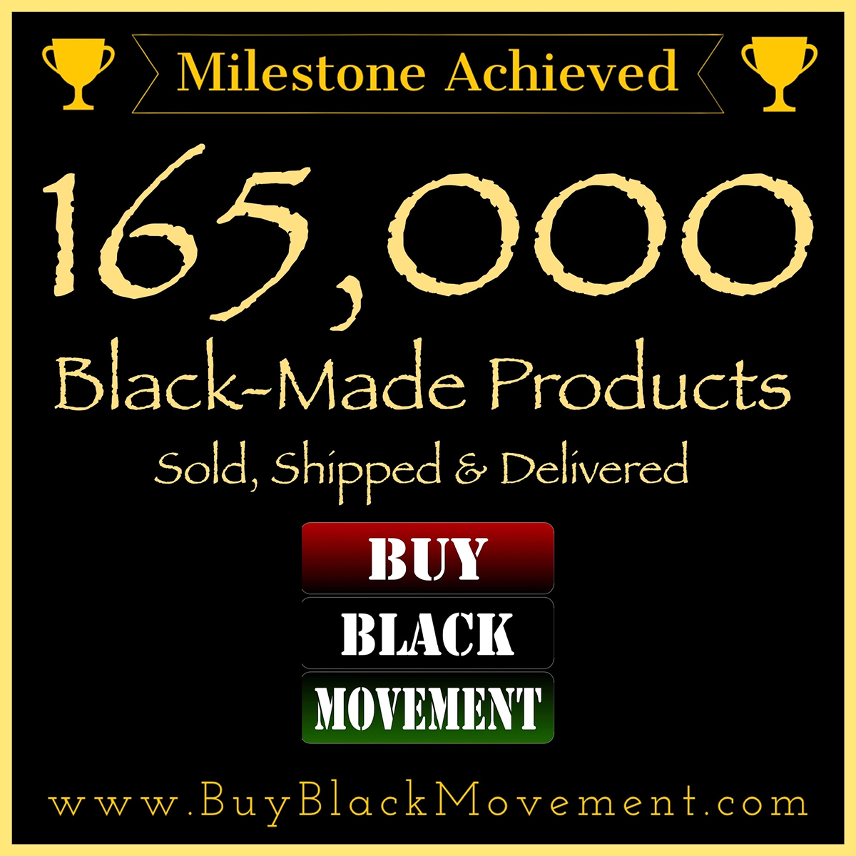 165,000 Products Sold