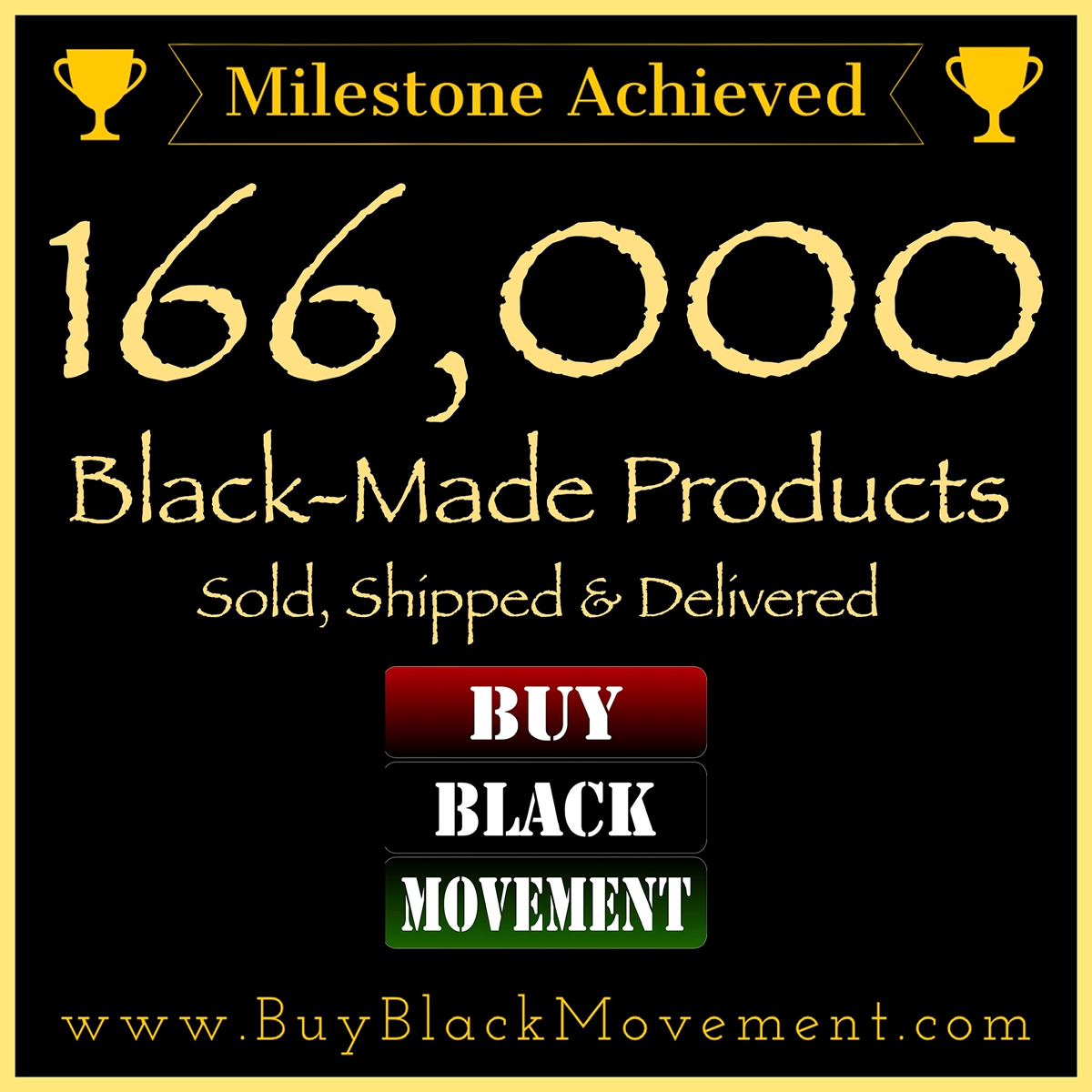 166,000 Products Sold