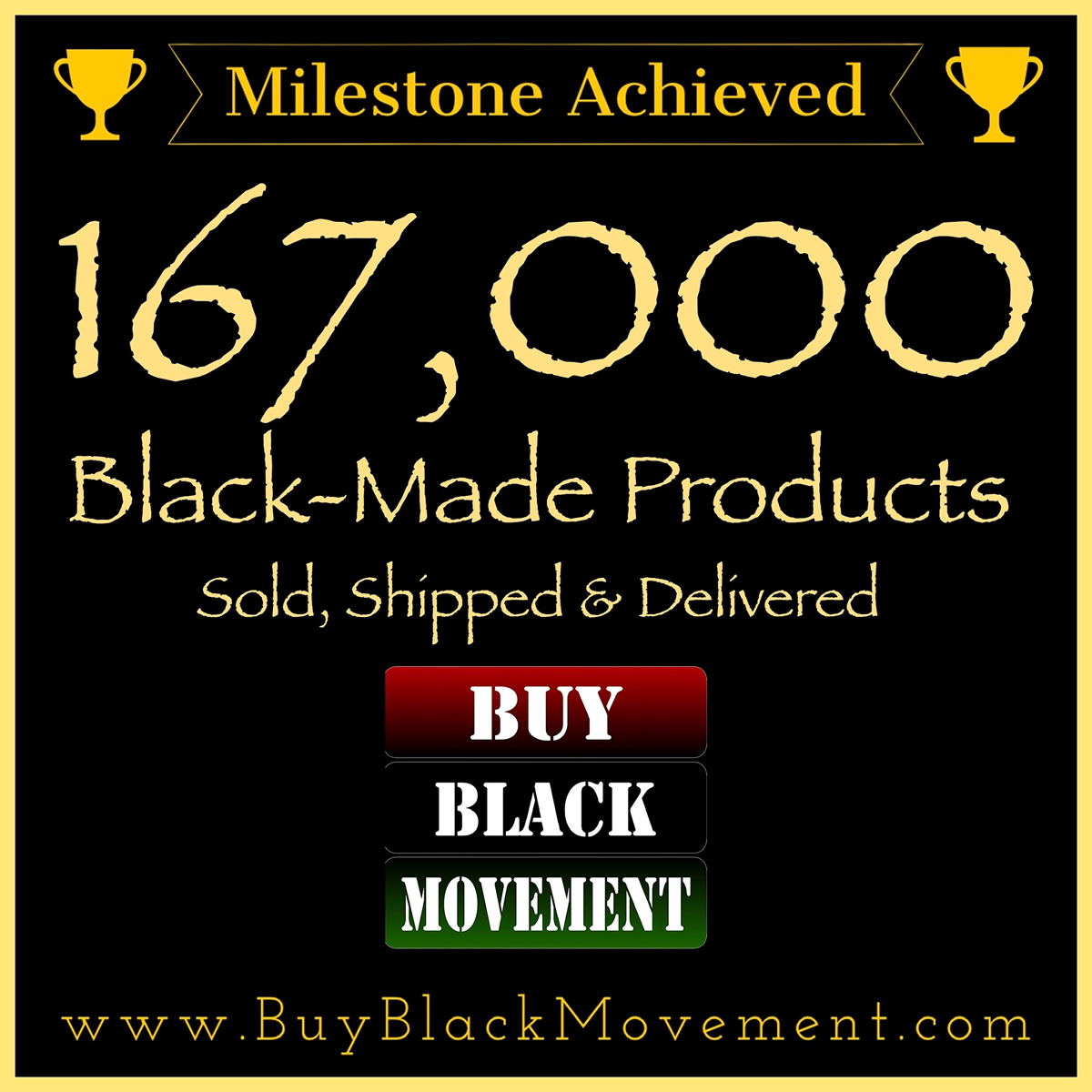 167,000 Products Sold