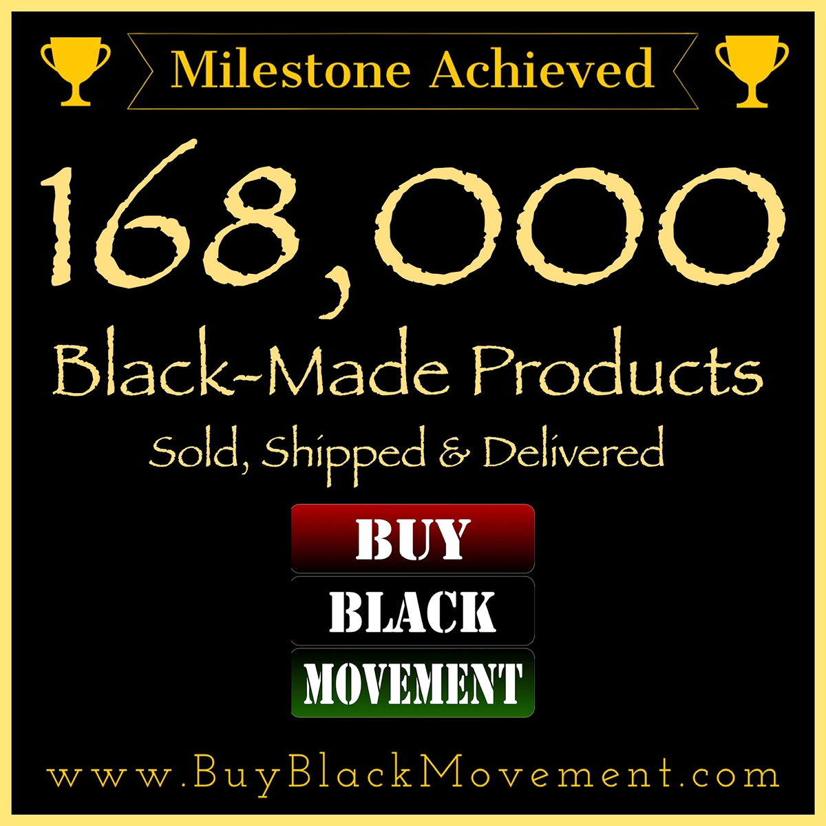 168,000 Products Sold