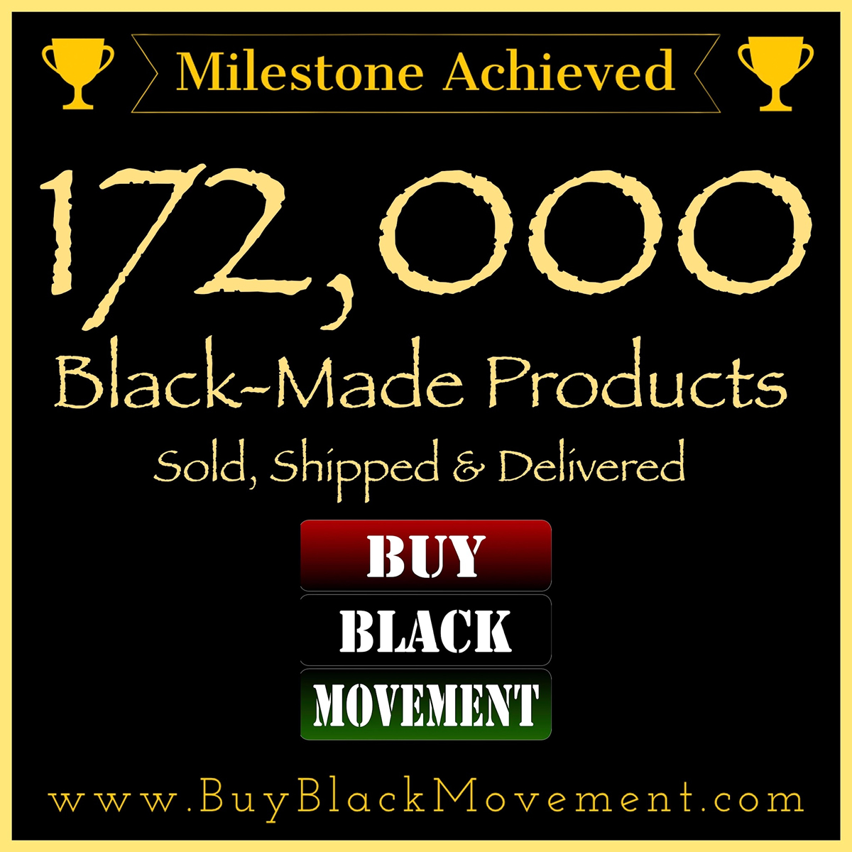 172,000 Products Sold