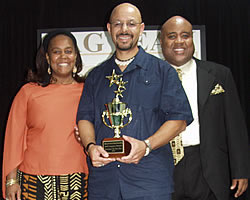 Accepting Black Business of the Year Award