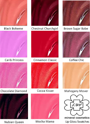 LUV Lady Lipgloss Swatches