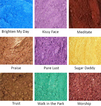 Loose Mineral Pigments Color Chart