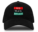 Buy Black Movement Embriodered Hat