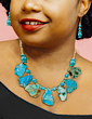 Motherland Necklace & Earrings - Turquoise
