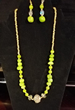 Lime Glitz Necklace & Earrings