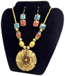 Egyptian Royalty 'Blue' Necklace & Earrings
