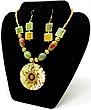 Egyptian Royalty 'Green' Necklace & Earrings