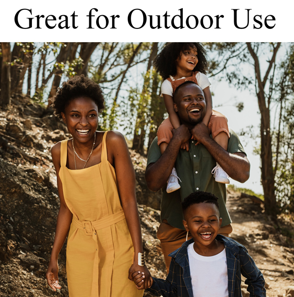 Black Family Walking - Great for Outdoor Use